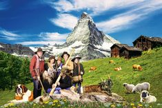 Shops, Photoshop, Zermatt, Mount Everest, Mountains, Nature, Travel, Candid Photography, Summer