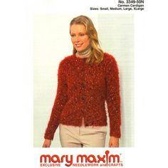 Mary Maxim - Carmen Cardigan Pattern - Patterns & Books