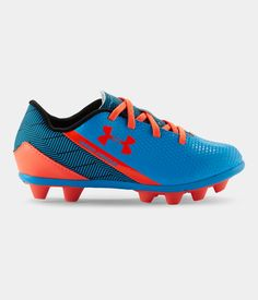 Shop Under Armour for Kids' UA Flash HG Jr. Soccer Cleats in our Unisex-Youth Cleats department.  Free shipping is available in US.