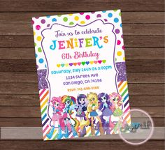 Equestria Girls Party Invitation The by AngelsTouchPartyShop
