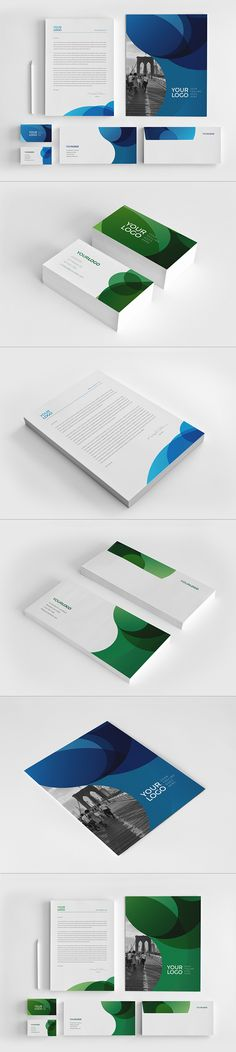 Blue Green Circles Stationery. Download here: http://graphicriver.net/item/blue-green-circles-stationery/11052734?ref=abradesign #stationery #design