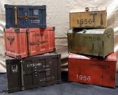 Vintage Trunks are cool Vintage Suitcases, Vintage Luggage, Paris Rooms, Vintage Trunks, Accent Furniture, Vintage Decor, Locker Storage, Design Inspiration, Cool Stuff