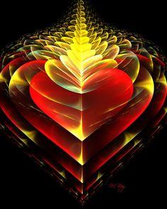 Love Burns Eternal Fractal by Myberg 2 Art Fractal, Fractal Design, I Love Heart, Happy Heart, Art Graphique, Heart Art, Sacred Geometry, Heart Shapes, Artwork