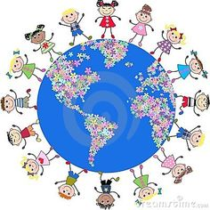 Photo about Illustration of mixed ethnic kids around our planet. Illustration of childhood, colored, cartoons - 16150273 School Projects, Art Projects, Foto Poster, Cartoon Faces, Autistic Children, Parenting Books, Parenting Styles, Collaborative Art, Child Day