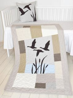 Duck Baby Quilt Hunting Theme Crib Bedding Hunter Nursery Woodland Crib Bedding for Baby Boy Forest Blanket gray cream beige brown - Name Baby Boy - Ideas of Name Baby Boy - Duck Nursery, Hunting Nursery, Hunting Baby, Babies Nursery, Woodland Crib Bedding, Crib Bedding Boy, Baby Boy Tops, Baby Boys, Hunting Themes