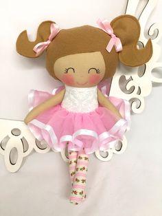 Ballerina Gift Birthday girl gift ideas Handmade Dolls by SewManyPretties