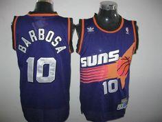 072e9e033 Suns  10 BLeandro Barbosa Throwback Purple Stitched NBA Jersey Phoenix Suns