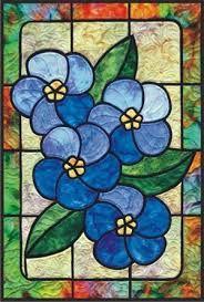 Resultado de imagem para floral stained glass