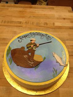Fisherman birthday cake www.cafeattila.com