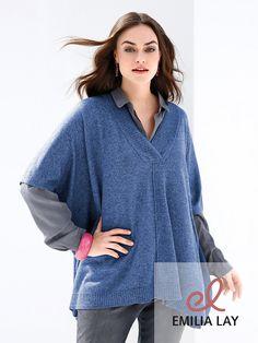 Total im Trend: Der Poncho-Pullover von Emilia Lay!