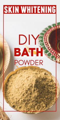 Miraculous Homemade Bath Powder with Natural Ingredients for Skin Lightening is part of Beauty skin care routine - Gram flour contains natural bleaching properties This article points out to the natural remedies which give bright skin instantly Homemade Skin Care, Diy Skin Care, Homemade Beauty, Beauty Tips For Skin, Beauty Skin, Beauty Hacks, Diy Beauty, Natural Beauty Tips, Recipes