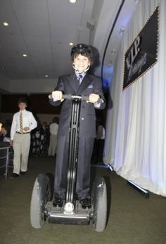 Unique Bar Mitzvah Entrance From R E A D Amuts Enter On Segway Scooter