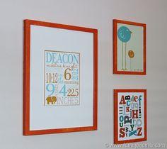 Custom Nursery art from Jumping Jax Designs, SugarFresh, and Finny and Zook.