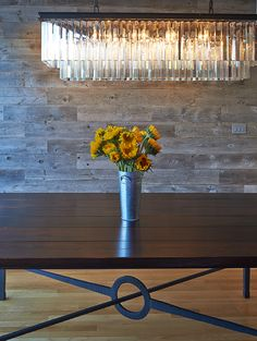 Reclaimed West's beautiful hand-crafted forged steel table base made from forged steel and reclaimed oak. Furniture, furniture design, bench, home decor, dining room, dining room furniture, Colorado, California www.reclaimedwest... / www.facebook.com/reclaimedwest