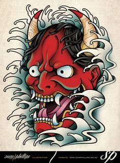 Hannya Mask Tattoo by Sam-Phillips-NZ.deviantart.com on @deviantART