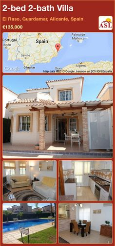 2-bed 2-bath Villa in El Raso, Guardamar, Alicante, Spain ►€135,000 #PropertyForSaleInSpain
