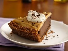 Gluten Free Double Chocolate Peanut Butter Pudding Pie - my husband would love this!