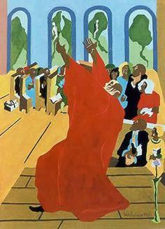 Genesis 3 - by Jacob Lawrence (1917-2000)  ~Repinned Via John Kline Kansas City Artist