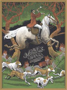 Rich Kelly Dave Matthews Band Charlottesville Poster