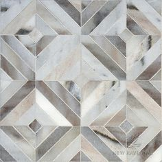 Randall, a handmade mosaic shown in honed Cashmere | Parterre Collection by Sara Baldwin and Paul Schatz | New Ravenna