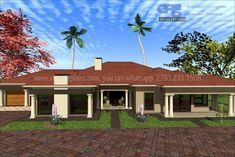 Overall Dimensions- x mBathrooms- 2 Car GarageArea- Square meters Bedroom House Plans, House Floor Plans, Modern House Design, All Design, Building Costs, Site Plans, Garage Plans, Home Collections, Pergola
