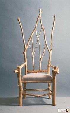 branches chair rustic decor home.... love it