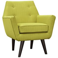 Modway Posit Armchair In Wheatgrass - Infuse your living room with the bold, contemporary look of the Modway Posit Armchair. Boasting dowel legs in a dark espresso finish and vibrant fabric upholstery, this chair adds comfort and chic style to your space. Mid Century Armchair, Hotel Restaurant, Fabric Armchairs, Upholstered Arm Chair, Modern Armchair, Modern Chairs, Comfy Armchair, Chair Cushions, Lounge Areas
