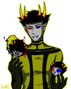 The Psiioniic with grub Mituna and Sollux