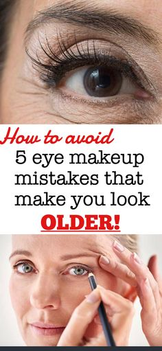 5 eye makeup mistakes that make you look older Old Makeup, Sexy Makeup, Eyebrow Makeup, Makeup Looks, Contour Makeup, Eyeshadow Makeup, Makeup Tips To Look Younger, Makeup Tips For Older Women, How To Do Makeup