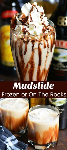 Mudslide is a delicious dessert cocktail made with a combination of Bailey s Irish Cream Kahlua and vodka This cocktail recipe is made two ways frozen and on the rocks cocktail drink baileys kahlua mudslide - The world's most private search engine Cocktail Desserts, Köstliche Desserts, Holiday Drinks, Dessert Drinks, Best Dessert Recipes, Yummy Drinks, Delicious Desserts, Cocktail Recipes, Cool Drinks