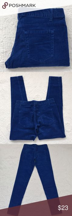 """Me Rona royal blue corduroy jeans In excellent condition never worn. Rise 7"""" inseam 31"""" 98% cotton 2% spandex Merona Jeans Skinny"""