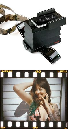 Smartphone Film Scanner -- converts 35mm film into digital images on iPhones and Androids. AMAZING! #lomography