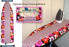 great way to re-cover your ironing board x