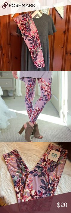 🆕Lilac Floral Soft Knit Leggings These lilac colored, floral print, brushed knit leggings are oh so soft! You won't want to take them off. The closest thing to wearing nothing at all! 92% Polyester 8% Spandex. They fit sizes Small - Large (up to size 12) comfortably. A must have for every wardrobe! Perfect for Spring! ⚜️Please note... There was an increase in the price of printed leggings from the manufacturer. Price firm unless bundled.⚜️ Infinity Raine Pants Leggings