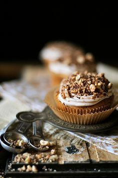 Nutella and Cocoa Cupcakes by How To: Simplify, via Flickr