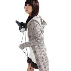 Women Long Sleeve Autumn Winter Warm Sweaters Knitted Cardigan 2016 Fashion Loose Sweater Female Outwear Jacket Coat With Belt