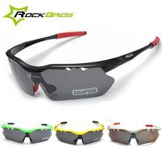 Sale 23% (17.69$) - ROCKBROS Polarized Cycling UV400 Sports Glasses 5 Color Sunglasses