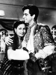 Once upon a time...Meena Kumari with who looks Dharmendra