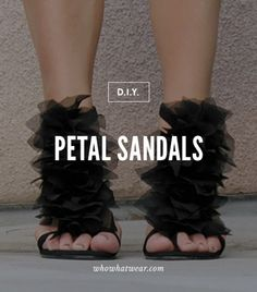 Petal Sandals. We're total suckers for embellished shoes, and because this craft doesn't include any potentially tacky textures (we're talking about you, puffy paint) it's virtually impossible to get it wrong.