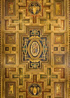 Ceiling of Santa Maria in Aracoeli, Rome, Italy