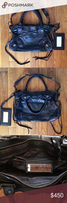3122ec73f61 Balenciaga First Bag Purse Handbag Black Here is a used Balenciaga First  Bag in black.