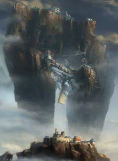 Floating Castle, HeeWann Kim on ArtStation at http://www.artstation.com/artwork/floating-castle-81440b7d-d7ab-4d0d-8634-c7414da2861c