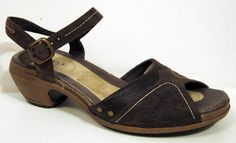 Merrell 'Luxe Strap' Coffee Brown Leather Ankle Strap Sandal Size 39/US 8 #Merrell #AnkleStrap