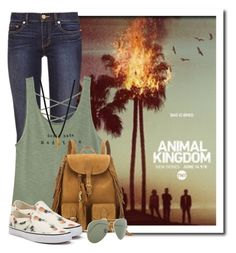 """""""Animal kingdom, Tuesdays at 9 on TNT"""" by queenrachietemplateaddict ❤ liked on Polyvore featuring Tory Burch, Yves Saint Laurent, Vans, Ray-Ban, Dogeared, TV, tnt and animalkingdom"""