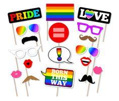 Printable Pride Festival Photo Booth Props  Gay Pride Photo