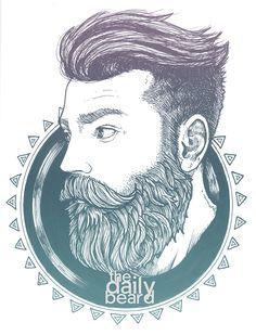 hahaa te copa algo así??  Beards. Men. Illustration. The Daily Beard.