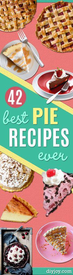 42 Best Pie Recipes Ever - Thanksgiving - Easy Pie Recipes, Sweet Recipes, Best Pie Recipe Ever, Pie Dessert, Dessert Recipes, Dessert Ideas, Dinner Recipes, Meringue, Just Desserts