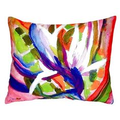 Betsy Drake Interiors Bird of Paradise Indoor/Outdoor Lumbar Pillow Betsy Drake Interiors Throw Pillow Sets, Lumbar Pillow, Outdoor Throw Pillows, Decorative Throw Pillows, Large Pillows, Floral Throws, Hibiscus, Indoor Outdoor, Tapestry