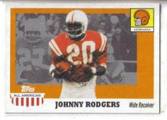2005 Topps All American 34 Johnny Rodgers Nebraska (Football Cards) by Topps All American. $0.01. Card Condidtion is Near Mint (NM) or Better, unless otherwise stated. 100,000s of Sports Cards Listed Here. Listing is for (1) One Single NFL Football Trading Card. Any Questions or Better Image Needed - Please Ask the Seller. Most Cards Shipped in Soft Sleeve and/or Top Load (See Shipping). 2005 Topps All American 34 Johnny Rodgers Nebraska (Football Cards)