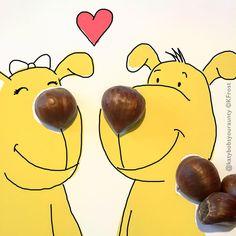 Leftover chestnuts #doodletime ! #doodleoftheday #doodle #dog #dogsofinstagram #art #artwork #instaart #instagood #instalike #drawing #cute #love #bybob